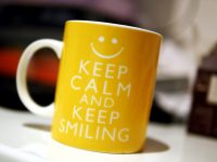 Keep Calm and Keep Smiling Mug Review