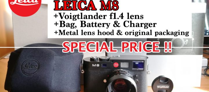 HUGE STEAL! Leica M8 with Voigtlander f1.4 Lens at a special price!
